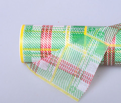 Фетр с рисунком зел. шотландка 20м*50см