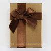 Подарочная коробочка с бантиком (цвет - коричневый), 92х66х29 мм