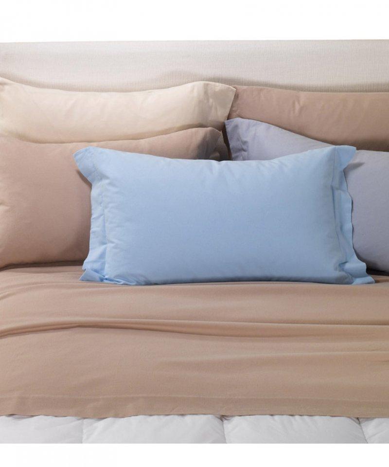 Постельное белье 1.5-спальное Caleffi Tinta Unita коричневое