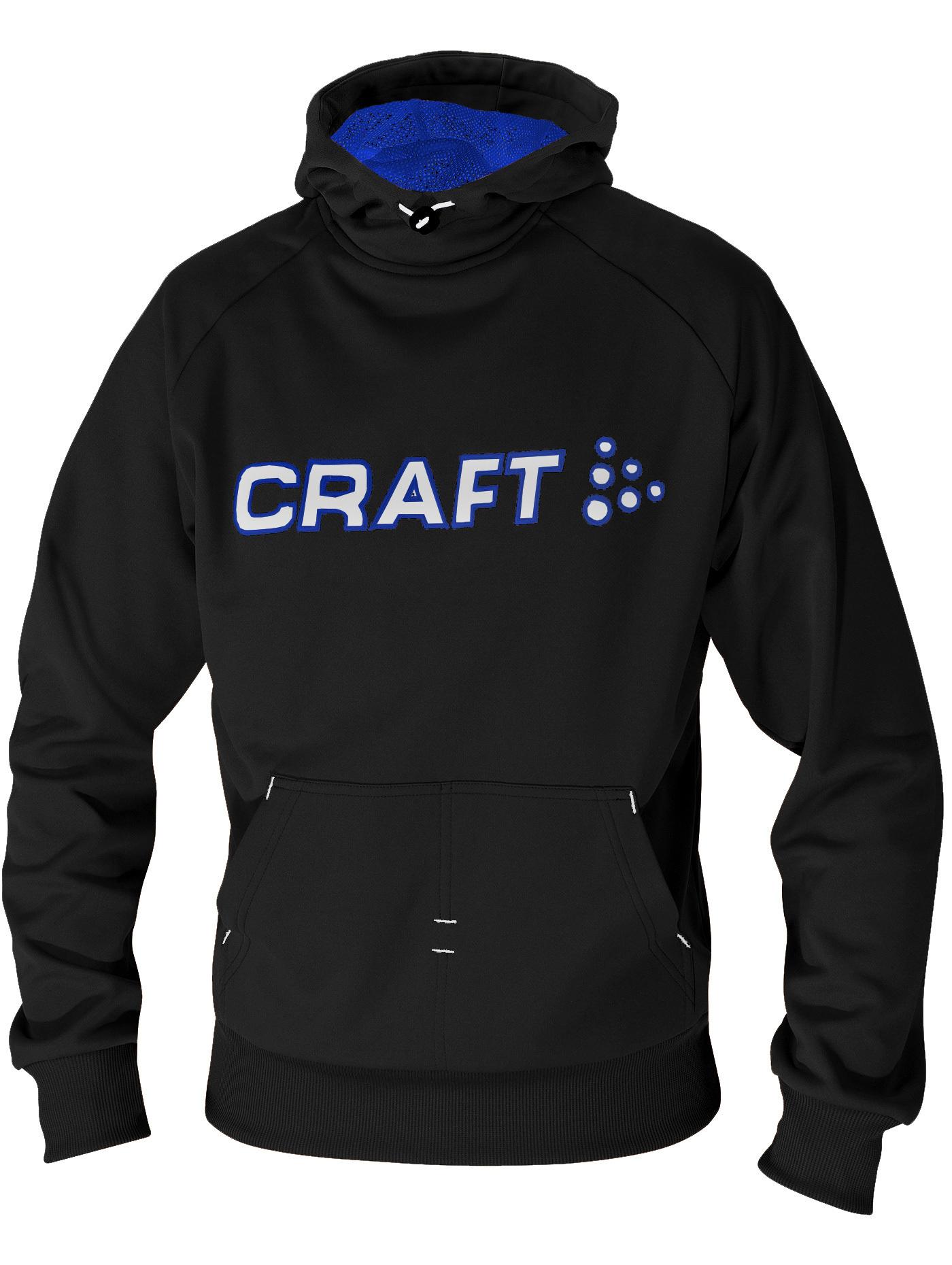Толстовка Craft Flex Hood мужская black-white