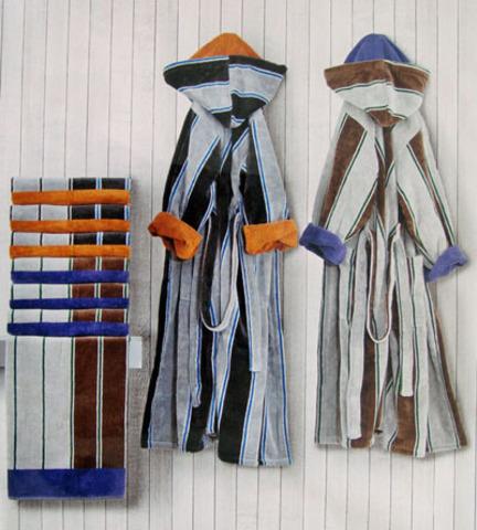 Элитный халат велюровый Colledge от Carrara