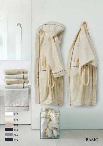 Элитный халат-кимоно махровый Basic коричневый от Roberto Cavalli