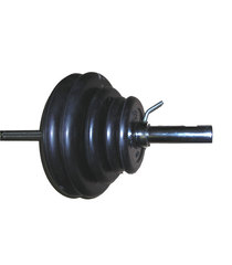 Штанга тренировочная 50 кг обрезиненная разборная