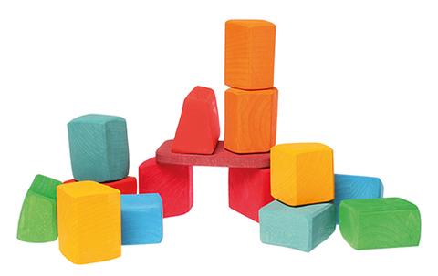 Набор строительный цветной, 15 шт (Grimm's)