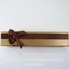 Подарочная коробочка с бантиком (цвет - коричневый), 195х43х25 мм