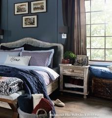Постельное белье 2 спальное евро Casual Avenue Richmond синее-красное