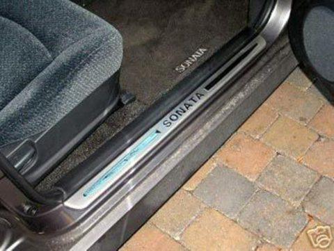 Накладки порогов Hyundai Sonata 99 - 05