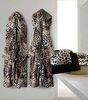 Элитный халат велюровый Bravo с капюшоном коричневый от Roberto Cavalli