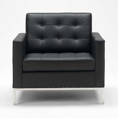 Кресло Florence Knoll Style  (кожа)