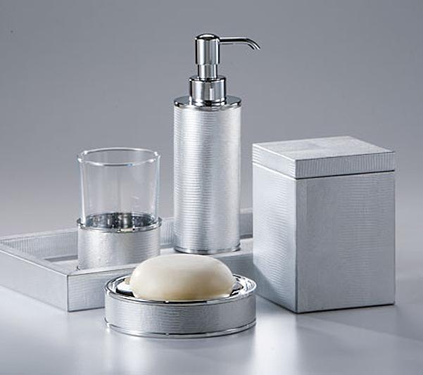 Набор элитных аксессуаров для ванной Metallic Snake Silver от Labrazel