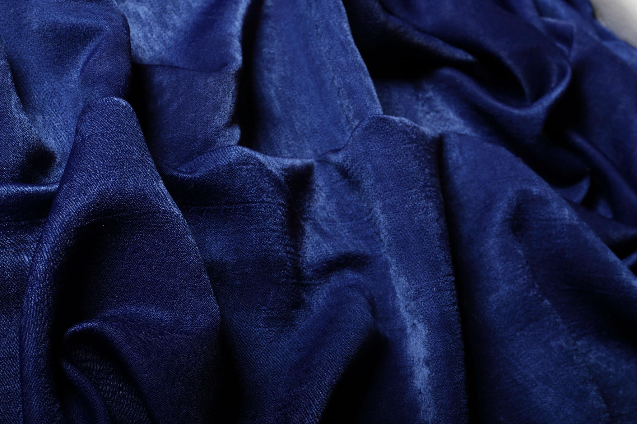 Suede (темно-синий). Готовая штора - имитация замши