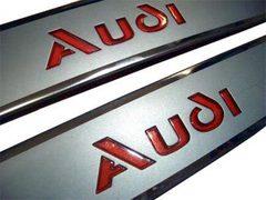 Светящиеся накладки порогов AUDI (red light)