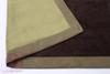 Элитный плед -покрывало Двустороннее коричневый-зеленый от Luxberry