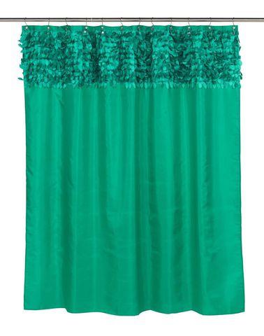 Элитная шторка для ванной Jasmine Emerald от Carnation Home Fashions