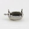 Сеттинг - основа - подвеска для страза 12х10 мм (оксид серебра) ()