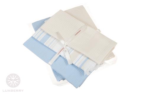 Набор полотенец 3 шт Luxberry Акварель бежевый