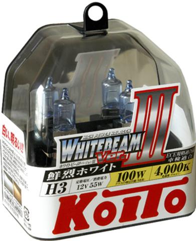 Галогенные лампы KOITO H3 WhiteBeam III (4200K) P0752W