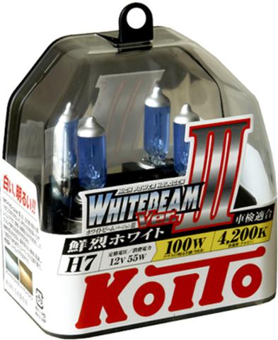 Галогенные лампы KOITO H7 WhiteBeam III (4200K) P0755W