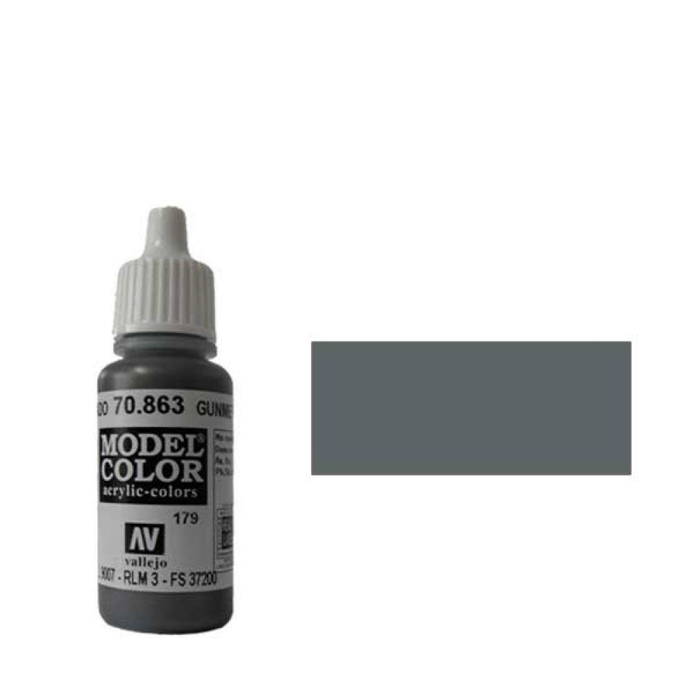 179. Краска Model Color Оружейный Серый 863 (Gunmetal Grey) металлик, 17мл