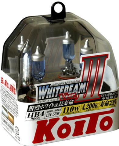 Галогенные лампы KOITO HB4 WhiteBeam III (4200K) P0757W