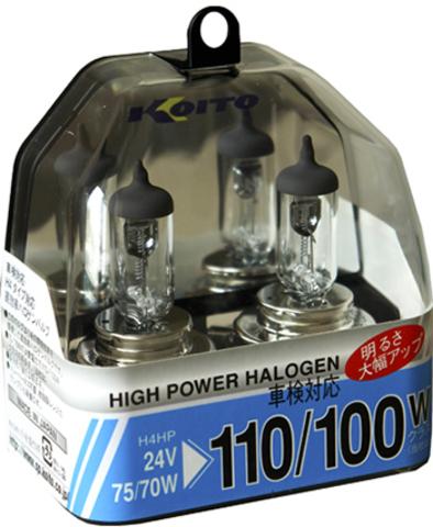 Галогенные лампы KOITO H4 HighPower P0591 (24В)