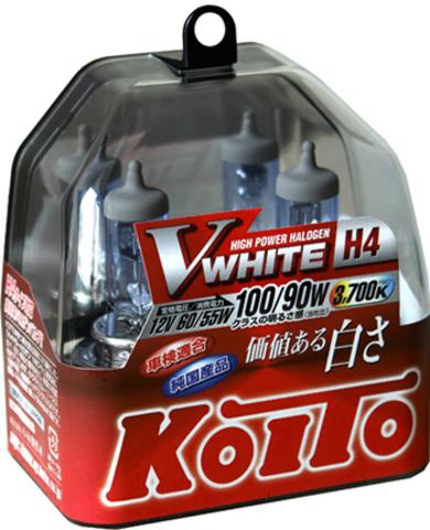Галогенные лампы KOITO H4 Vwhite (3700K) P0746W