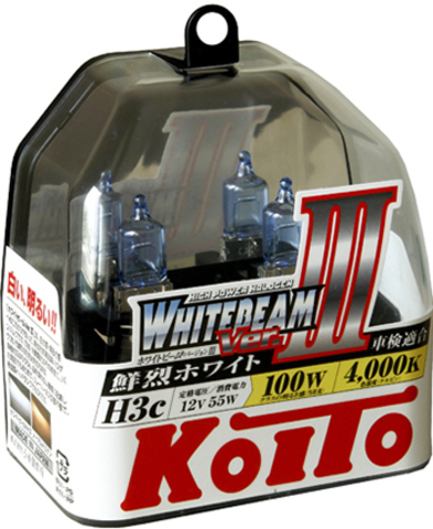 Галогенные лампы KOITO H3c WhiteBeam III (4200K) P0753W