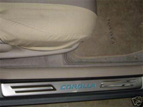 Светящиеся накладки порогов Toyota Corolla 02+ (blue light)