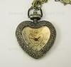 """Часы на цепочке """"Сердце-2"""" (цвет - античная бронза) 41x30Х10 мм ()"""