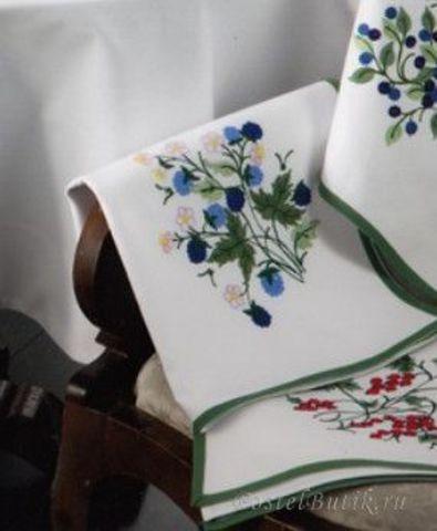 Полотенце 50х70 Ricami Baldini Ежевика белое