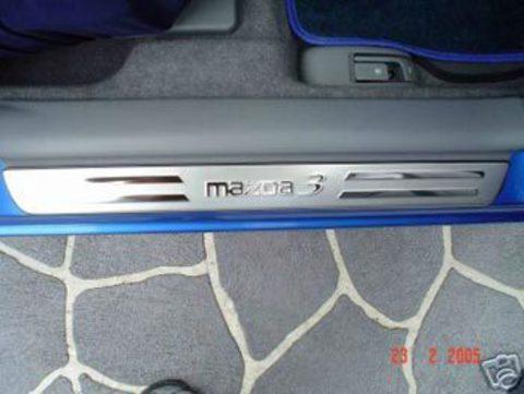 Накладки порогов Mazda 3 MATT CHROME