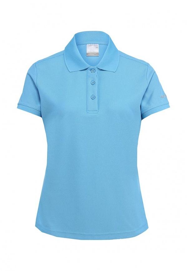 Рубашка-поло женская Craft Pique голубая