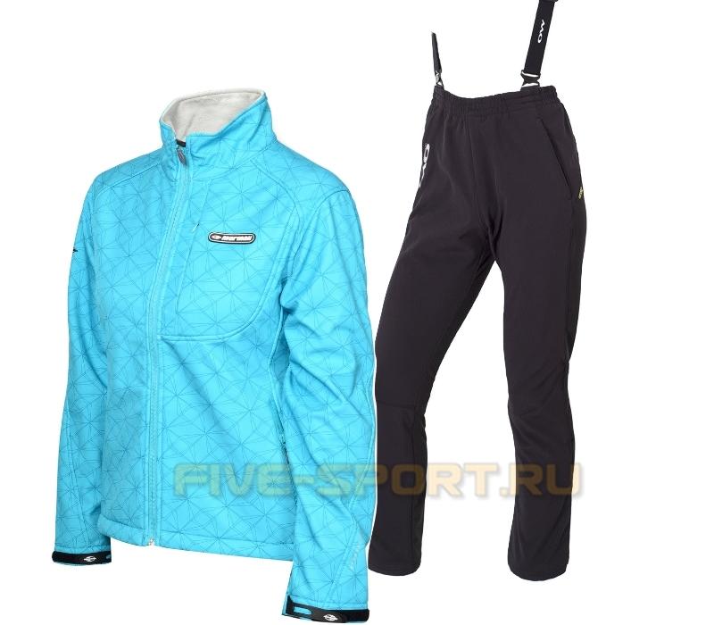 Женский лыжный утепленный костюм Mormaii Lake Blue one way Samuel
