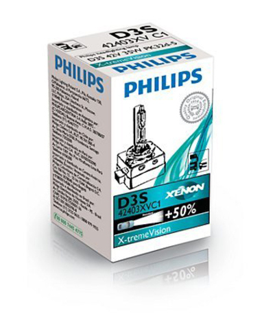 Лампа ксенон D3S (4800К) Philips X-tremeVision (картон)