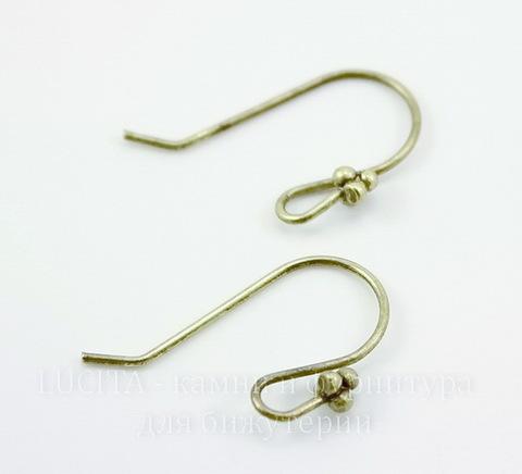 Швензы - крючки с цветком, 23х18 мм (цвет - античная бронза), пара