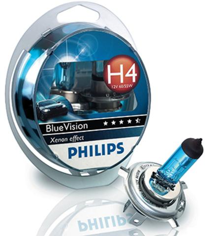 Галогенные лампы Philips H4 Blue Vision (4000K) (2шт.)