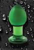 Средняя анальная пробка Crystal Premium Glass