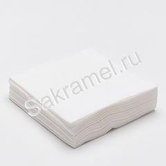 Салфетки бумажные однослойные (Бумага, белый, 20х20 см, 100 шт/упк)