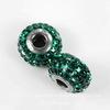 80201 Бусина Сваровски BeCharmed Pave Emerald 15х9 мм ()