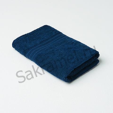 Полотенце махровое (Махра, темно-синий, 50х90 см, 1 шт/упк, штучно)