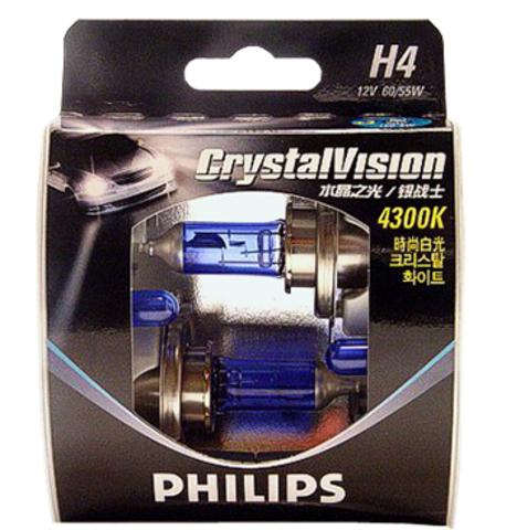 Галогенные лампы Philips H4 Crystal Vision (4300K) (2шт.)