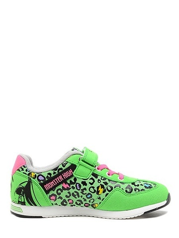 Кроссовки Монстер Хай (Monster High) на липучке для девочек, цвет зеленый. Изображение 4 из 8.
