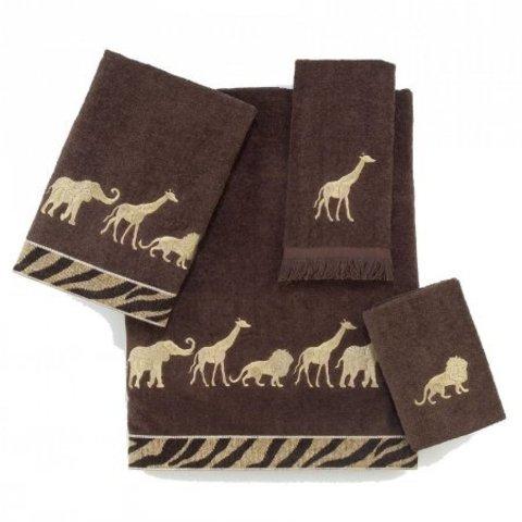 Полотенце 69х127 Avanti Animal Parade коричневое