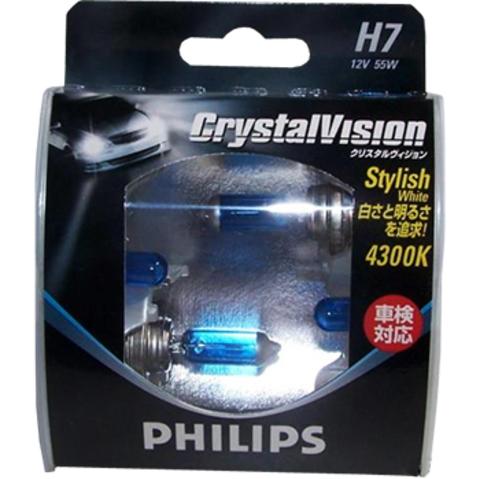 Галогенные лампы Philips H7 Crystal Vision (4300K) (2шт.)