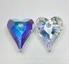 6240 Подвеска Сваровски Сердечко Wild Heart Crystal AB (17 мм) ()