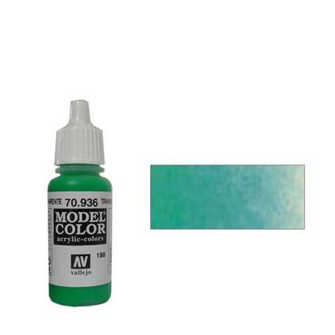 188. Краска Model Color Зеленый 936 (Transparent Green) прозрачный, 17мл