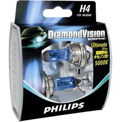 Галогенные лампы Philips H4 Diamond Vision (5000K) (2шт.)