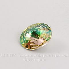 1122 Rivoli Ювелирные стразы Сваровски Crystal Luminous Green (SS47) 10,54-10,9 мм