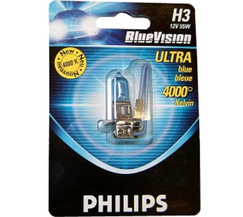 Галогенные лампы Philips H3 Blue Vision (4000K) (1шт.)