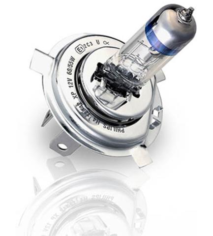 Галогенные лампы Philips H4 X-treme Power + 80% (2шт.)